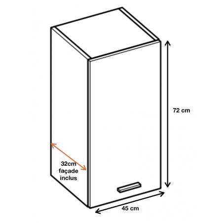 Dimension du meuble W45.