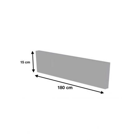 Plinthe de cuisine 180 cm - Décor Béton gris naturel