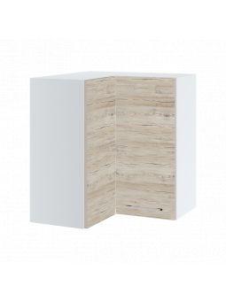 Meuble d'angle haut de cuisine - 2 portes, L 65/65/72 cm