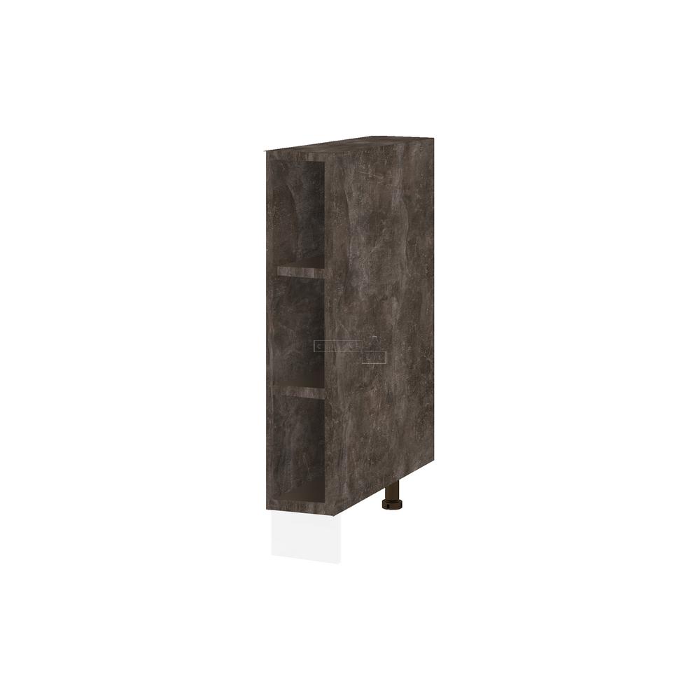 Meuble bas de cuisine - range bouteille L 15 cm - bellissi beton ardoise
