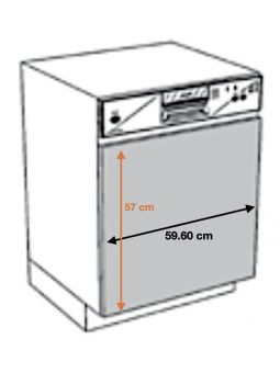 Façade pour lave-vaisselle semi intégrable - L 59,6 cm