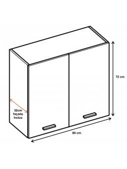 Dimension du meuble W8.