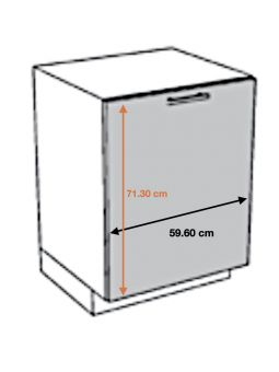 Façade pour lave-vaisselle tout intégrable - L 59,6 cm