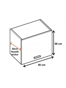 Dimension du meuble WO4.