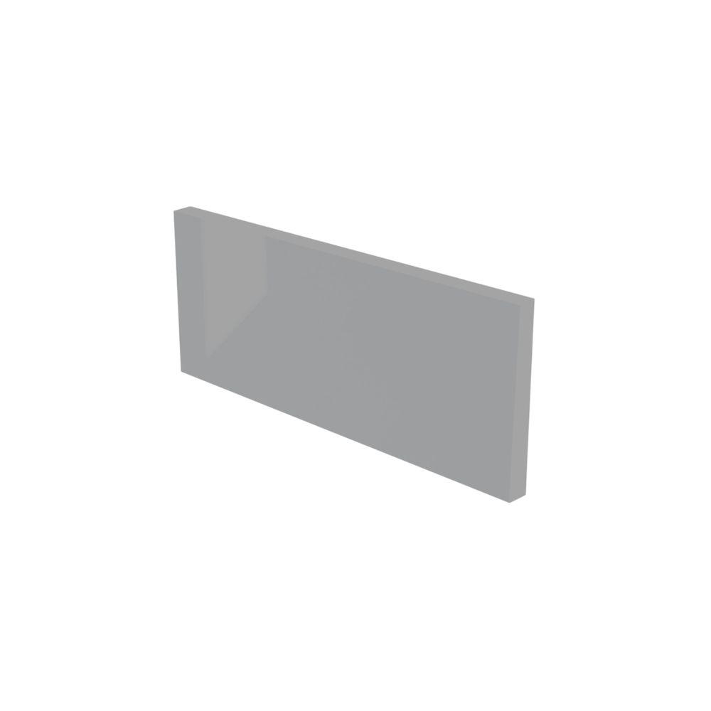 Plinthe de cuisine 180 cm - Gris brillant