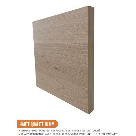 Meuble pour four encastrable - L 60 cm - décor chêne naturel