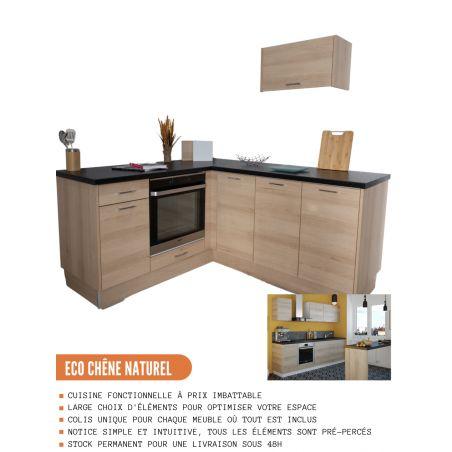 Façade pour lave-vaisselle semi-intégrable - L 60 cm - décor chêne naturel