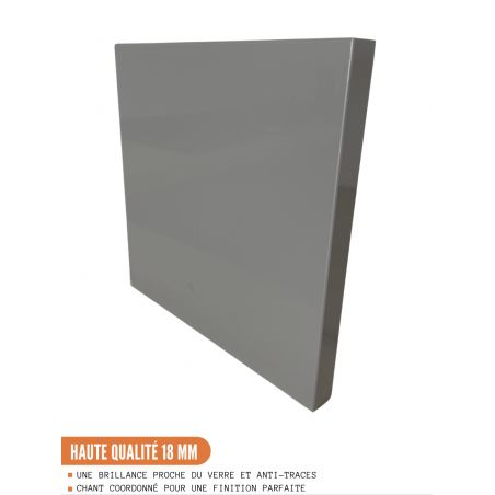 Meuble bas de cuisine - 1 porte L 30 cm - gris brillant
