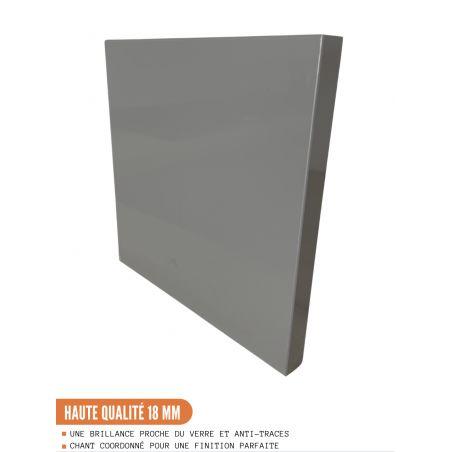 Meuble haut de cuisine - 1 porte, L 30 cm - gris brillant
