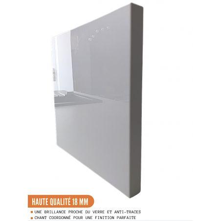 Façade pour lave-vaisselle semi-intégrable - L 60 cm - eco blanc brillant