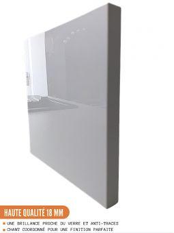Façade pour lave-vaisselle tout intégrable - L 60 cm - eco blanc brillant