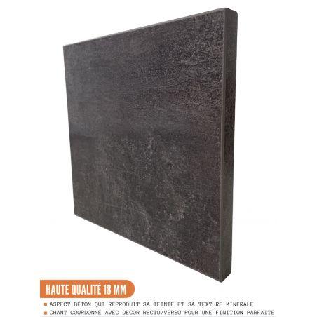 Meuble pour four encastrable - 1 tiroir, L 60 cm - bellissi beton ardoise