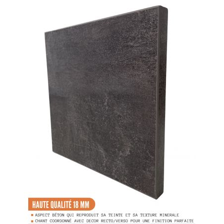 Panneau de finition pour colonne de cuisine - H203.7/L58 cm - bellissi beton ardoise
