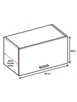 Dimension du meuble ref : WO8.