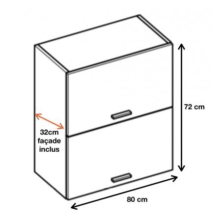 Dimension du meuble ref : WPO8.