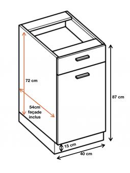 Dimension du meuble  ref : DS4/1.