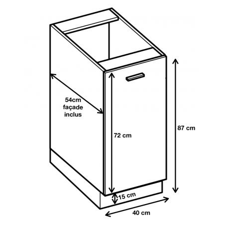 Dimension du meuble D4.