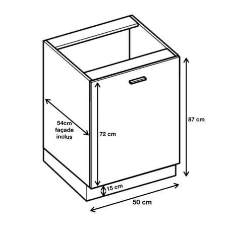 Dimension du meuble  ref : D5.