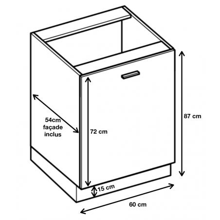 Dimension du meuble  ref : D6.