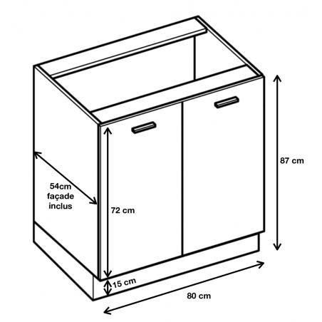 Dimension du meuble  ref : D8.