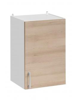 Meuble haut de cuisine- 1 porte, L 40 cm - décor chêne naturel