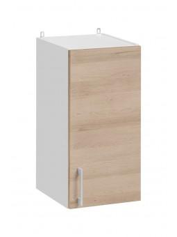 Meuble haut de cuisine - 1 porte, L 30 cm - décor chêne naturel