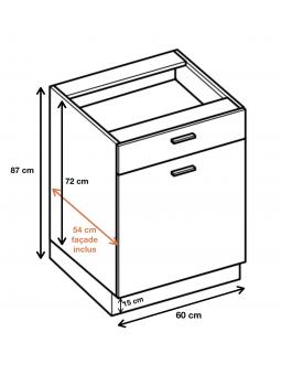 Dimension du meuble  ref : DS6/1.