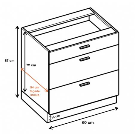 Dimension du meuble  ref : DS6/3.