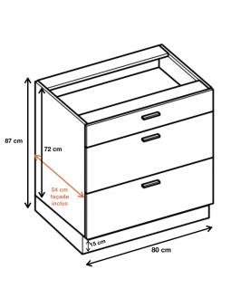 Dimension du meuble  ref : DS8/3.