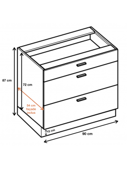 Dimension du meuble  ref : DS9/3.