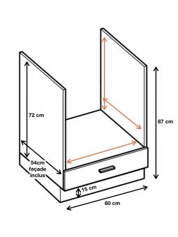Dimension du meuble  ref : ZK6.
