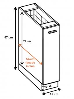 Dimension du meuble ref : D15 CARGO.
