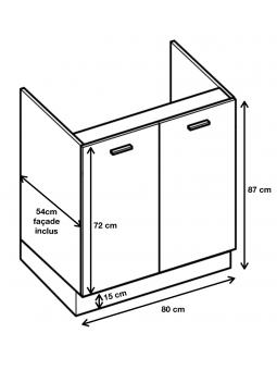 Dimension du meuble ref : DZ 8.