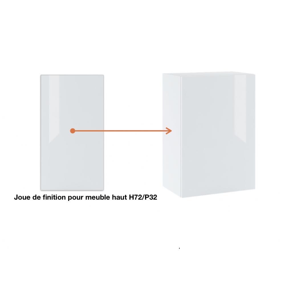 Joue de finition  pour meuble haut  ref : H72/L32.