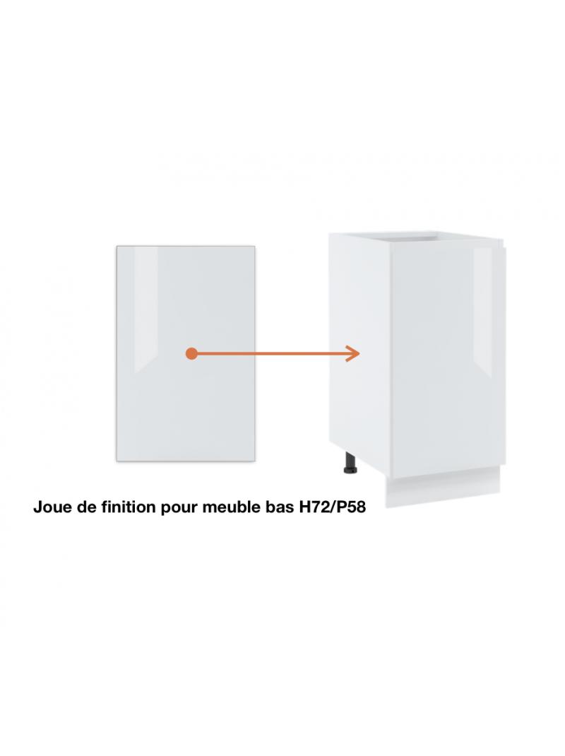 Joue de finition  pour meuble bas de cuisine, ref : H72/L58.