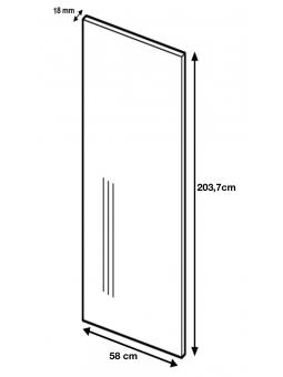 Dimension du panneau de finition ref: H203.7/58.