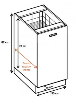 Dimension du meuble ref : D 30 CARGO.