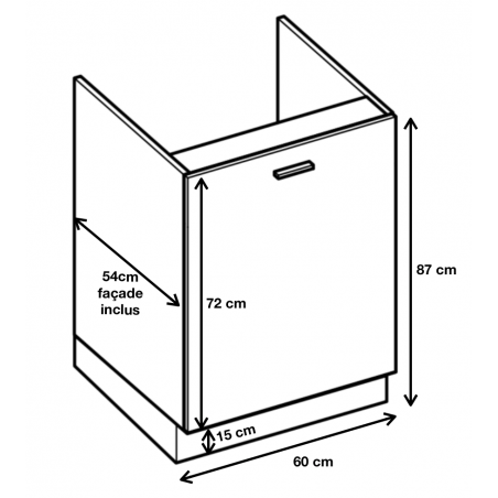 Dimension du meuble ref : DZ 6.