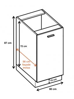Dimension du meuble  ref : DW6.