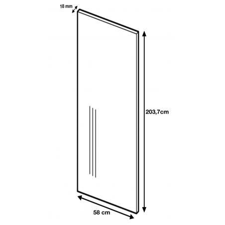 Dimension du panneau de finition ref: H203.7/58