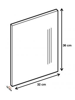 Dimension du panneau de finition ref : H36/32