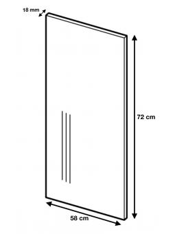 Dimension du panneau de finition ref : H72/58.