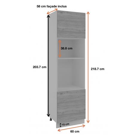 Dimension de la colonne de cuisine ref : SPM6.