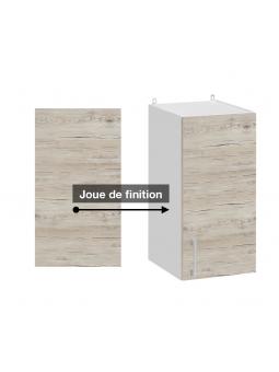 Panneau de finition pour meuble haut - décor bois noyer blanchi