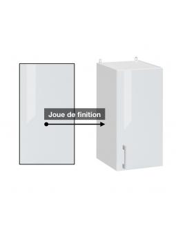 Joue de finition blanc brillant pour meuble haut.