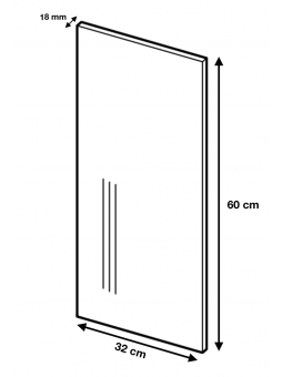 Panneau de finition pour meuble haut - gris brillant