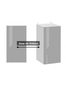 Joue de finition gris brillant pour meuble haut de la collection ECO.