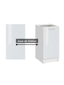 Panneau de finition pour meuble bas - eco blanc brillant
