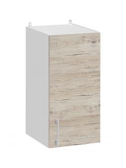 Meuble haut de cuisine - 1 porte, L 30 cm - décor noyer blanchi