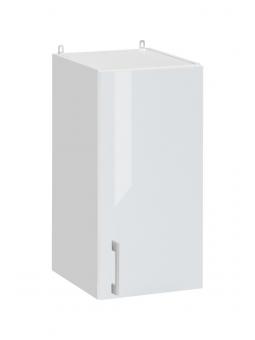 Meuble haut de cuisine - 1 porte, L 30 cm - eco blanc brillant